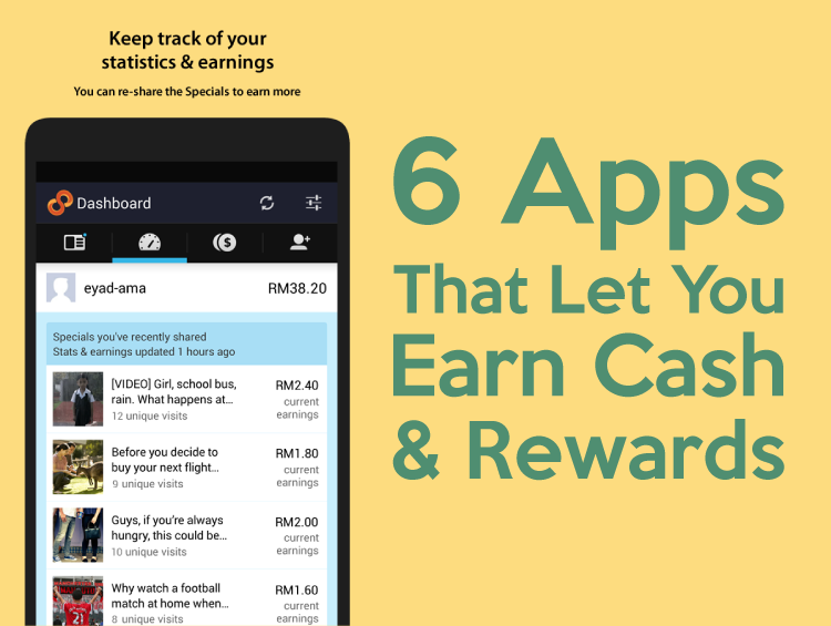 6 Apps That Let You Earn Cash & Rewards | 8Share Home